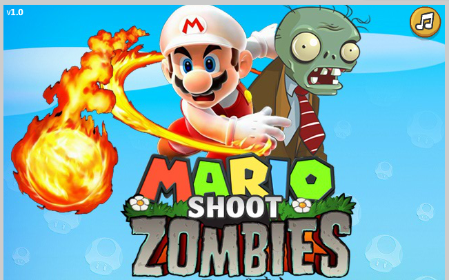 Mario shoot zomobies